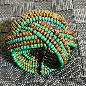 Vintage Boho Beaded Cuff Bracelet